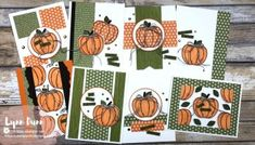 Fun and Simple way to use Circle Shapes in Card Making | Lynn Dunn Card Making Templates, Card Making Tutorials, Card Making Techniques, Making Tools, Pumpkin Cards, Paper Pumpkin, Fun Fold Cards, Folded Cards, Diy Cards