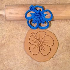 Hibiscus Cookie Cutter 3D Printed  on Etsy, $8.75