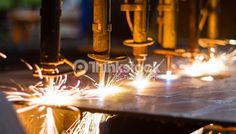 Stock Photo : CNC LPG cutting