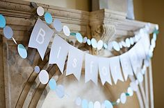 B is for Boy baby shower... This would be cute with G is for Girl or E is for Emelyn...