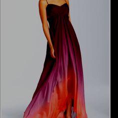 Purple & orange ombre dress.
