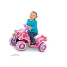 Disney Minnie Mouse Ride On Car Quad 6V Battery Girls Gift Pink White