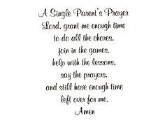 Z 156 Single Parent's Prayer