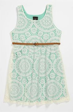 W Girl Belted Dress (Little Girls) | Nordstrom
