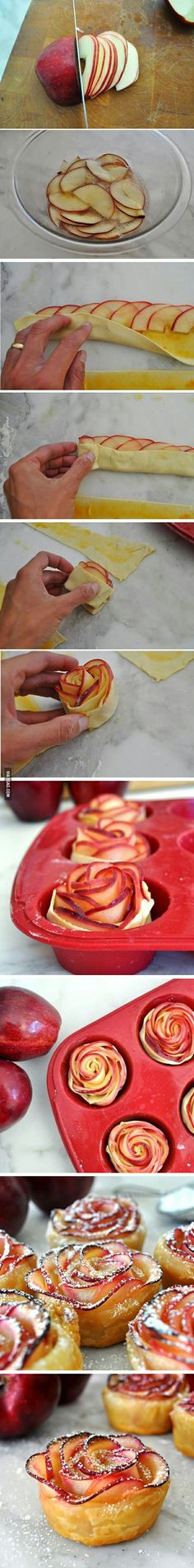 A new way of eating apple pie