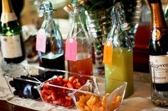 Mimosa bar:  champagne and different juices and garnishes