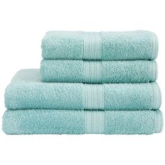 Christy Georgia aqua towels found on Polyvore