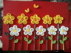 Quiling flowers. I love flowers, because flowers are beautiful!!!