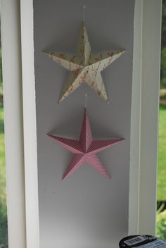 DIY How to make a 3D-star. Simple instruction! Great idea!
