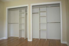 side-by-side closet layout