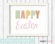 Free Download – Happy Easter Printable Sign