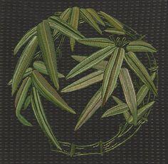 日本刺繍-青竹-