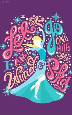 Frozen || Elsa artwork This would be a cute print to display at a Frozen Themed Birthday Party