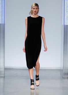 THIS LBD IS SO GOOD. Helmut Lang Spring 2014 #nyfw