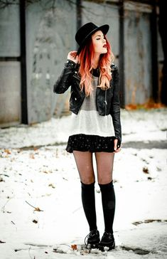 Is this type of fashion called grunge ... I don't  know but I do think it is very cute