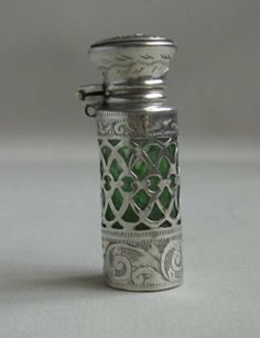 MASONIC SILVER SCENT BOTTLE.
