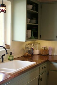 Remodelaholic | Copper Countertops Tutorial; Kitchen Renovation Idea