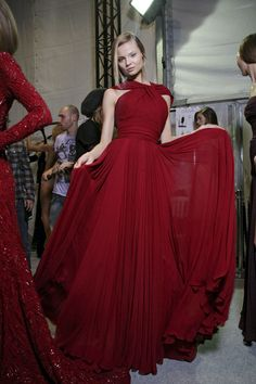 Elie Saab at Paris Fashion Week Fall 2011 - Backstage Runway Photos