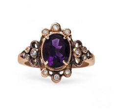 A vintage-inspired amethyst beauty.
