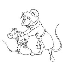 billedresultat for the great mouse detective coloring pages