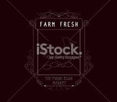chicken and eggs Vintage frames and Floral Ornaments - Illustration