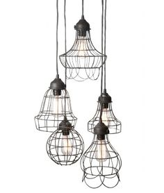 Image of Wire 5 Pendant Light  I would love these lights on a patio or over a snack bar.