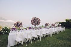 Table decorated for a Chic and Elegant Amalfi Coast Wedding | | Photography by http://www.roncaglioneweddingphotographers.com/g