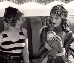 Agnes Franey and Myrna Loy, c.1928 by Alexander Stewart