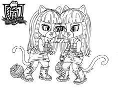 baby monster high coloring pages baby purrsephone et meowlody by jadedragonne on deviantart