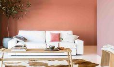 Peinture couleur p che sur pinterest chambre p che murs - Peinture couleur peche ...