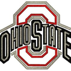 Ohio State Logo Applique, 4 Sizes, Machine Embroidery Design