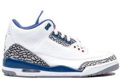 huge selection of 6453c 2017b Mens Jordans 3 - White Blue Air Jordan Shoes, Air Jordan 3, Cheap Jordan