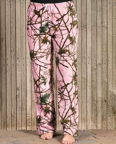 Trail Crest Women's Pink Camo Fleece Lounge Pants