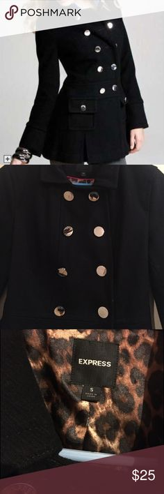 Express pea coat No defects. May just need dry cleaning, i have had in closet a long time. Express Jackets & Coats Pea Coats