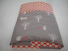 Storybook Woodland Animals Baby Blanket with Minky