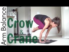Crow pose or crane pose also known as bakasana/Kakasana is an arm balancing posture, with your arms slightly bent so that the knees come close to the triceps.