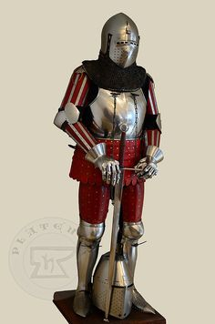 Zbroja wzorowana na nagrobkach niemieckich rycerzy: Beringera von Berlichinge 1377 oraz Voita von Rieneck 1379/Armour set based on german knights effigies: Beringer von Berlichinge 1377 and Voit von Rieneck 1379