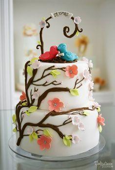 Birdie Wedding Cake for cupcake tower. Wedding Cakes, Cupcake, Tower, Birds, Weddings, Desserts, Food, Deserts, Wedding Gown Cakes