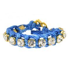 Blue Wrapped Crystal Bracelet... #cord #friendshipbracelet #unique https://www.facebook.com/dazzlemedeals