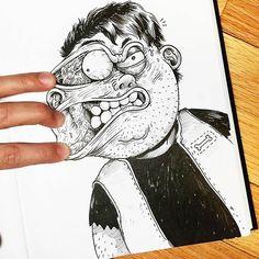 Quando um ilustrador luta com os seus próprios desenhos!