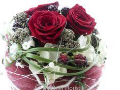 Weiteres - Gesteck Kugel Tischdeko Hochzeit rot - ein Designerstück von Meissner-Floristik bei DaWanda