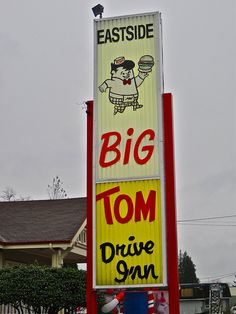 "Big Tom Drive Inn, Olympia, WA- Another one of the ""must do's"" when experiencing Oly... their milkshakes are amazing. Big Tom's is a tradition."