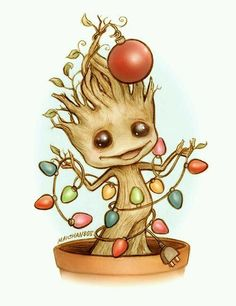 For #GuardiansOfTheGalaxy fans. <3 RT @geektasticdad: Groot gettin in the Holiday spirit!