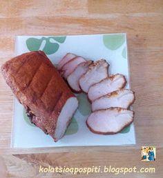 Κολατσιό από σπίτι !!: Σπιτικό ζαμπόν γαλοπούλας!! Pork, Meat, Blog, Kale Stir Fry, Blogging, Pork Chops