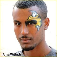 Awesome design... super handsome model... great artist from Israel Anna Wistrich @annawistrich #sillyfarm #professionalfacepainter #facepainters #facepainting #facepainted #makeupartist #facepaintersoninstagram #professionalfacepainter #horns