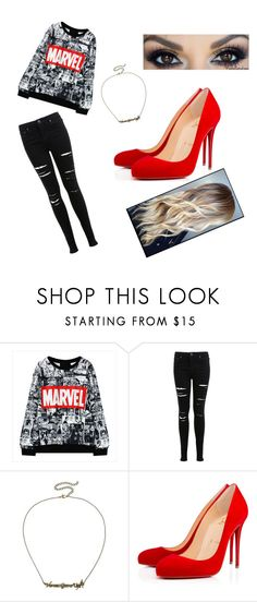 """Untitled #324"" by siriuslyasamarauder on Polyvore featuring Miss Selfridge, Disney and Christian Louboutin"