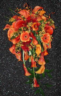 Calla cascading bouquet