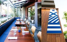 Santa Monica Yacht Club. Ambiance of an old-school yacht.
