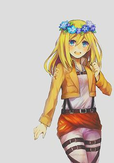 shingeki no kyojin, christa renz, and historia reiss image Christa Attack On Titan, Attack On Titan Anime, Manga Girl, Manga Anime, Anime Art, Kawaii Chibi, Kawaii Anime, Fanart, Atack Ao Titan