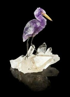 Amethyst Heron, another gorgeous work of art!!